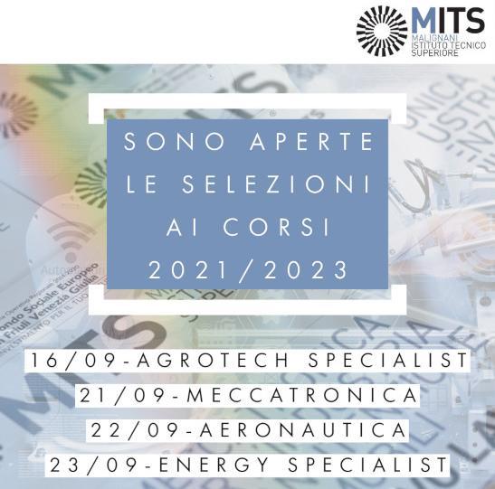 SONO APERTE LE SELEZIONI AI CORSI 2021/2023